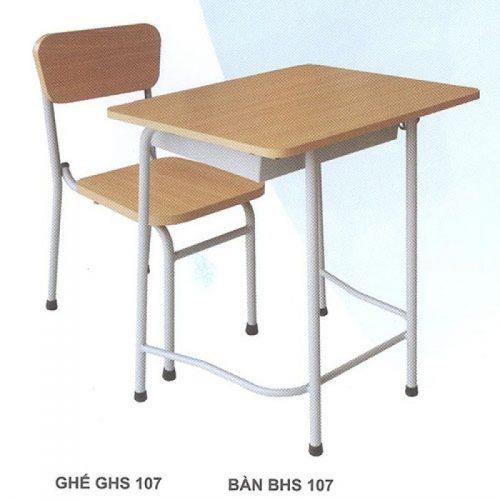 Bàn ghế học sinh hiện đại BHS107HP, GHS107HP