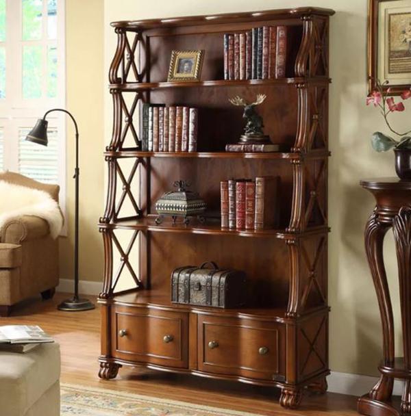 các mẫu tủ sách đẹp gỗ tự nhiên