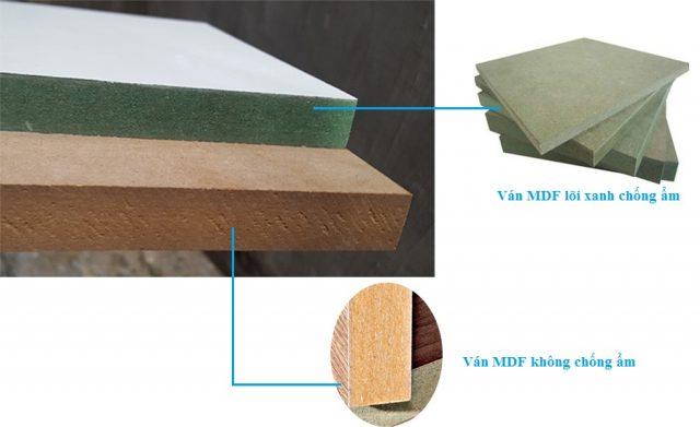 Phân biệt giữa hai loại gỗ MFD thường và chống nước