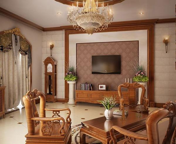 phòng khách đẹp cho nhà cấp 4