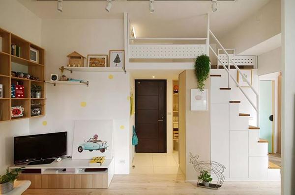 thiết kế nhà nhỏ có gác lửng