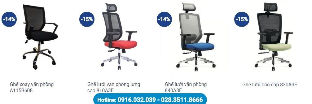 Một số mẫu ghế xoay văn phòng giá rẻ Hà Nội hiện nay