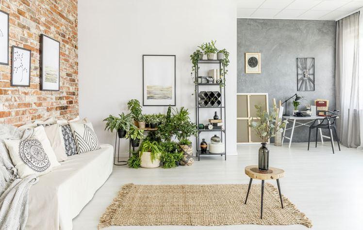 Sử dụng nội thất đơn giản và trồng thêm hoa có là cách thư giãn cuộc sống
