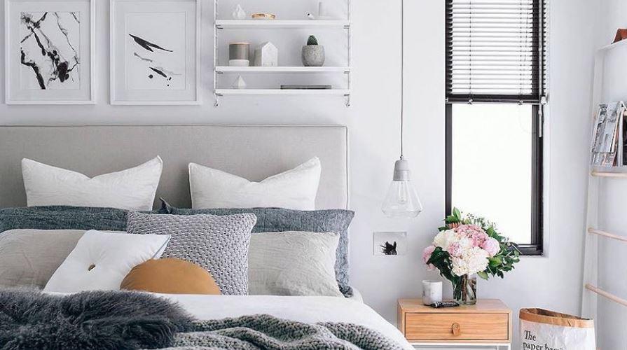 Sử dụng lọ hoa cảnh để trang trí phòng ngủ