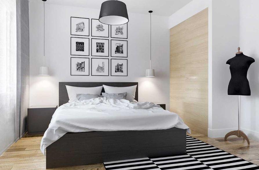 Trang trí phòng ngủ với đèn nháy hoặc những bức tranh hợp tone