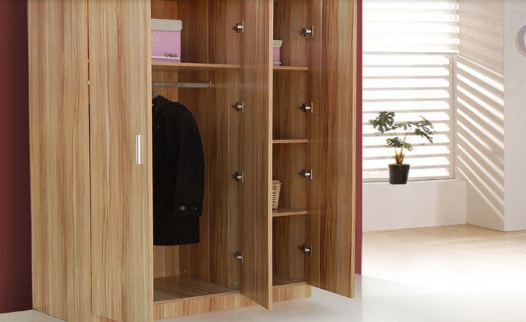 Tủ gỗ công nghiệp đựng quần áo gia đình