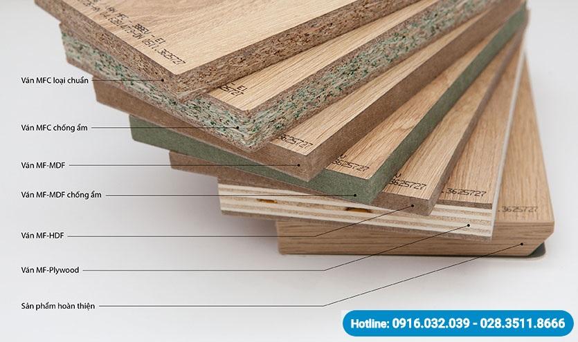 Mẫu gỗ MFC các loại