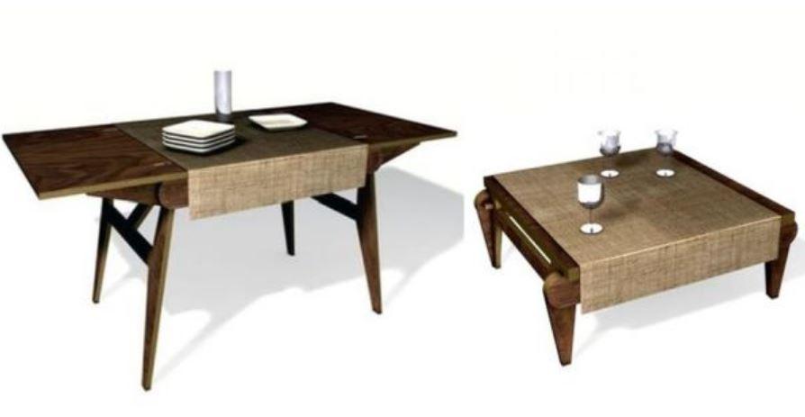 Bàn vừa có thể làm bàn tiếp khách, vừa là bàn ăn
