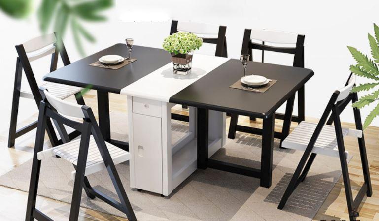 Chiếc bàn thông minh có thể mở gấp hai cạnh bàn
