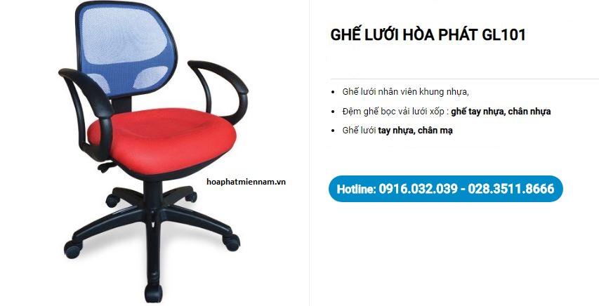 Mẫu ghế lưới văn phòng Hòa Phát GL101