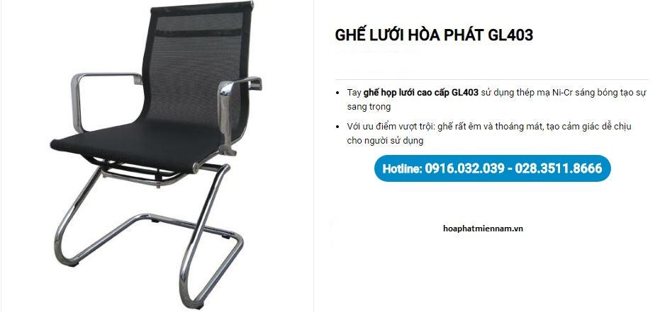 Ghế họp chân quỳ GL403