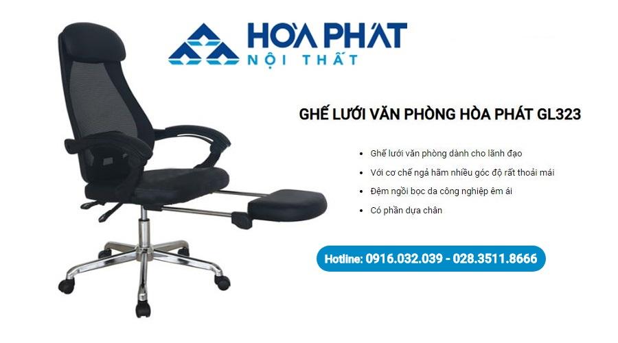 Dòng sản phẩm ghế xoay Hòa Phát GL323