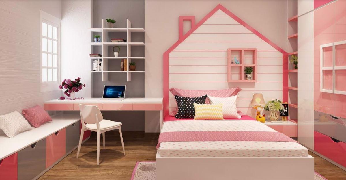 Phòng ngủ ngập tràn sự dễ thương, đáng yêu cho các công chúa