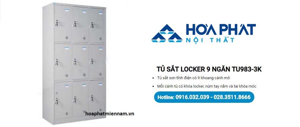 Tủ locker Hòa Phát 9 ngăn giá rẻ