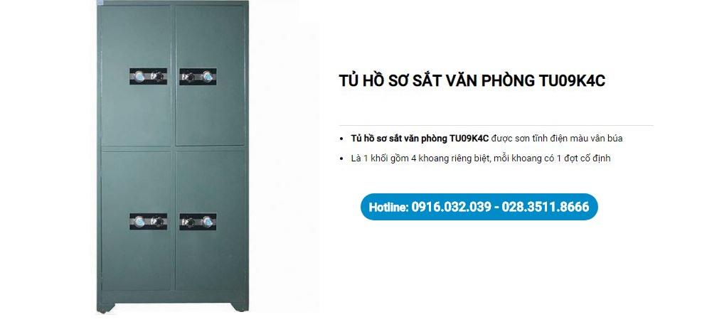 Tủ khóa an toàn TU09K4C