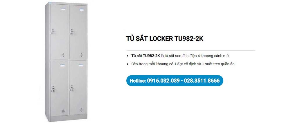 Tủ locker văn phòng TU982-2K
