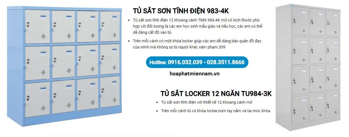 Tủ Hòa Phát locker 12 ngăn