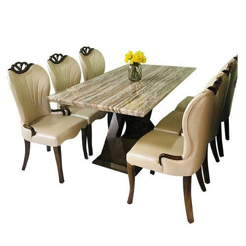 Bộ bàn ăn khung gỗ BA148 - GA148