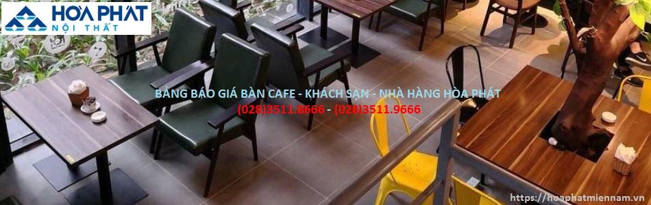 BANG BAO GIA BAN CAFE - KHACH SAN HOA PHAT