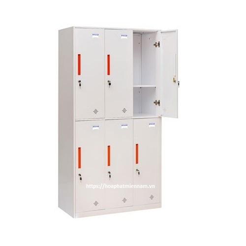 Tủ sắt Locker 6 ngăn TU982-3KD