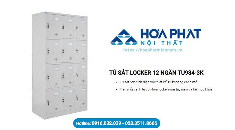 Tủ locker 12 ngăn Hòa Phát TU984-3K