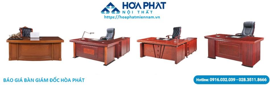 Báo giá bàn giám đốc Hòa Phát