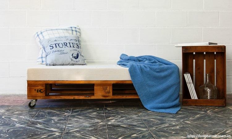Sofa pallet dể kết hợp và trang trí