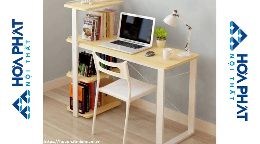 Mẫu bàn học gỗ đơn giản, gọn gàng, tiết kiệm diện tích