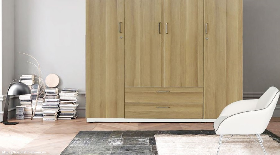 Tủ Hòa Phát với phần thiết kế phổ biến nhưng vẫn giữ nét sang trọng