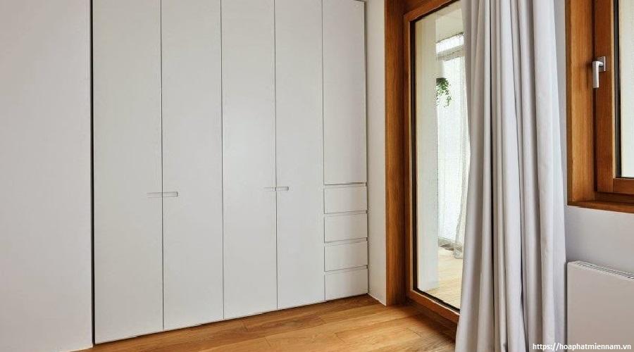 Chọn tủ với gam màu nhẹ để tôn lên vẻ sang trọng cho căn phòng