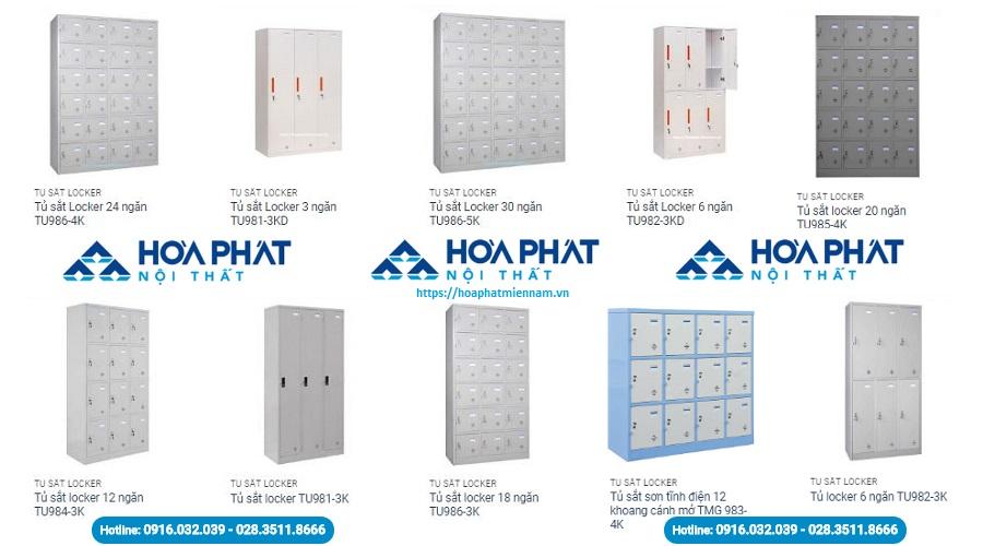 Những mẫu tủ locker Hòa Phát hiện đang được cung cấp tại thị trường TPHCM
