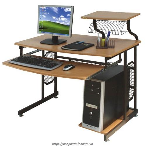 Bàn làm việc máy tính liền kệ BMT46 đến từ thương hiệu Hòa Phát