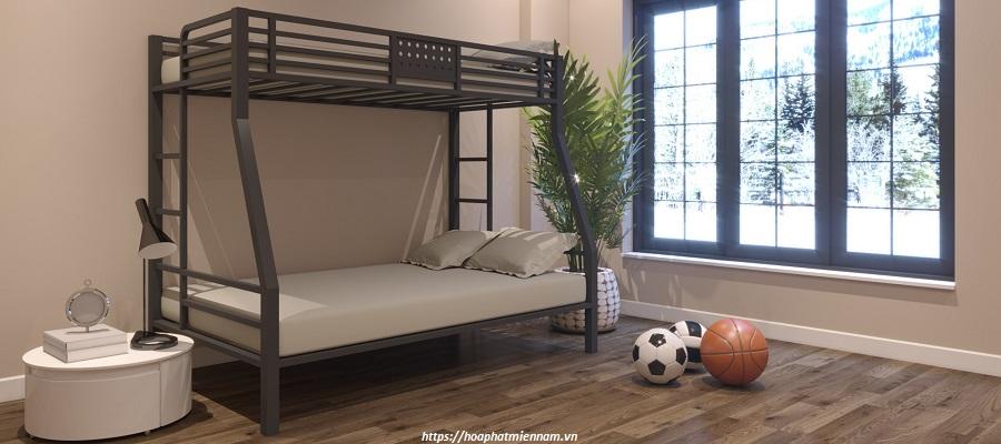 giường sắt 2 tầng thanh lý