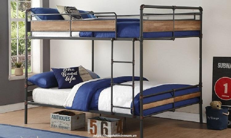 Giường sắt được thiết kế với độ bền cơ học cao