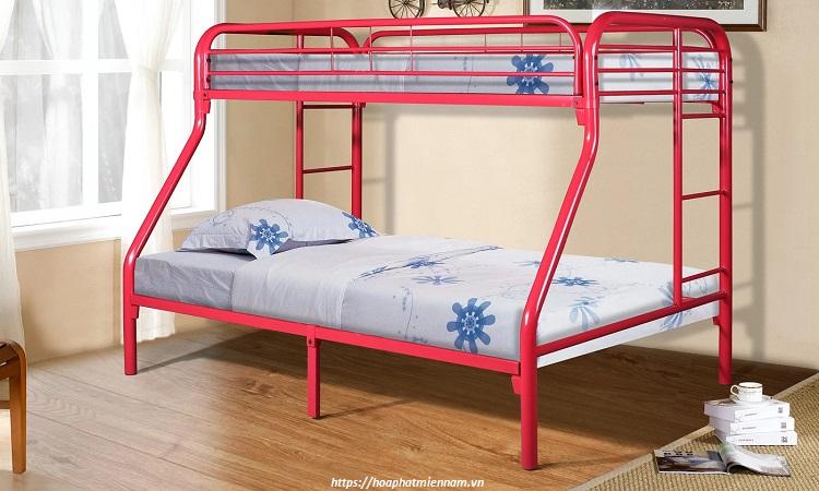 Sử dụng giường 2 tầng sắt tiết kiệm chi phí đầu tư nội thất