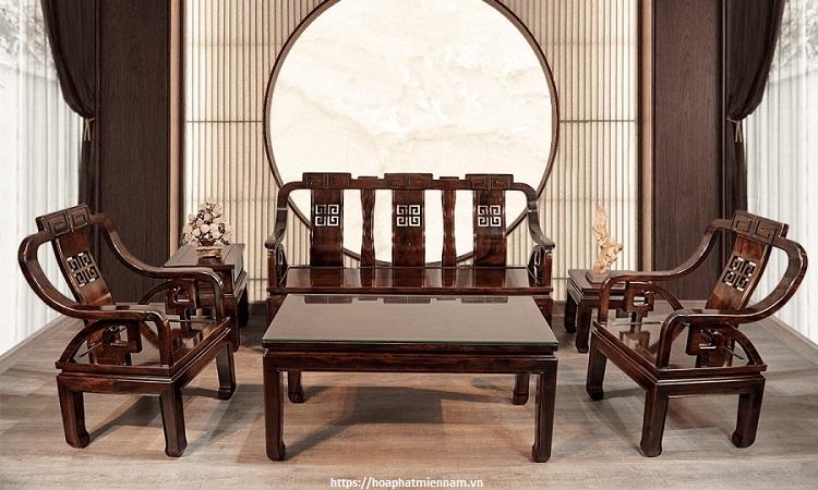 Bộ bàn ghế làm từ gỗ Đỏ (Gõ Đỏ)