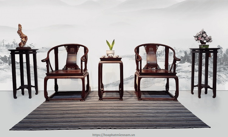 Bộ ghế đơn bằng gỗ kiểu Trung Quốc