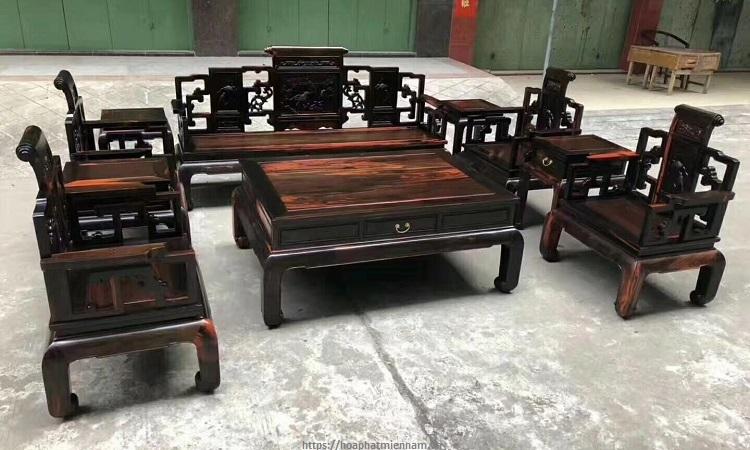 Bộ bàn ghế Gõ Đỏ kiểu Trung Quốc