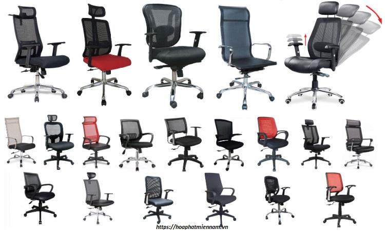 Dòng ghế xoay lưới dành cho văn phòng phổ biến của Hòa Phát