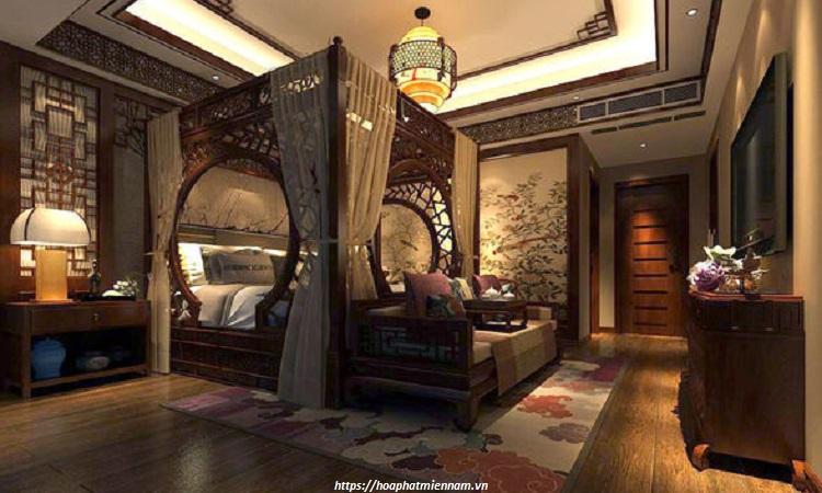 Mẫu thiết kế phòng ngủ phong cách Trung Hoa xưa