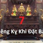 7 điều kiêng kỵ khi đặt bàn thờ bạn nên tránh