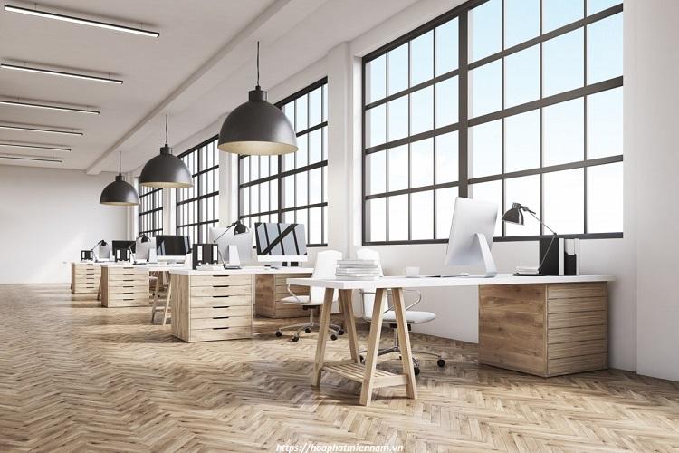 Chọn và bố trí bàn theo không gian phòng làm việc