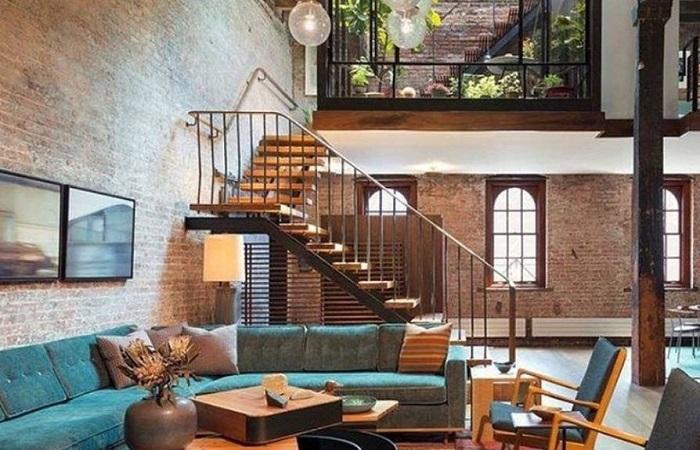 Phong cách đơn giản nhưng đầy sang trọng cho chiếc cầu thang lên gác lửng