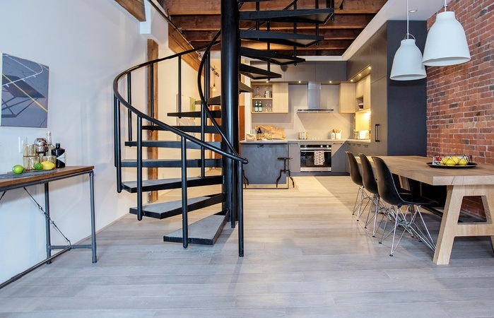 Mẫu cầu thang đẹp cho tầng lửng