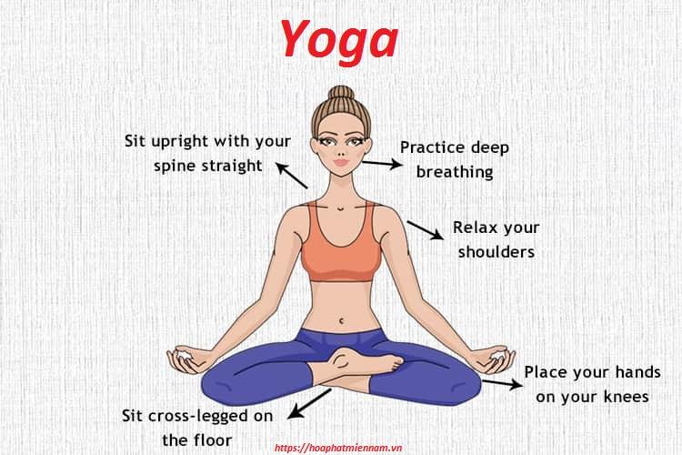Ngồi bệt đúng theo tư thế yoga