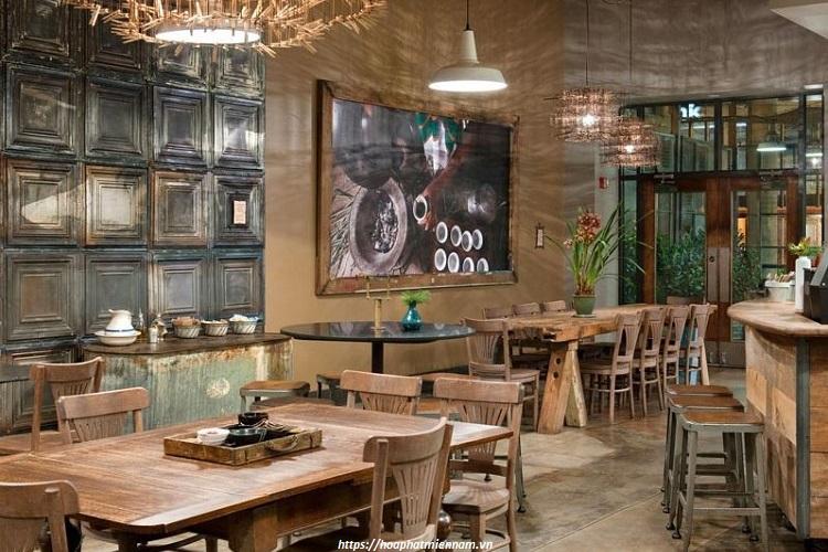 Ánh sáng trong thiết kế quán cafe Vintage phải đảm bảo sự trong, trầm và ấm như những năm tháng xưa củ