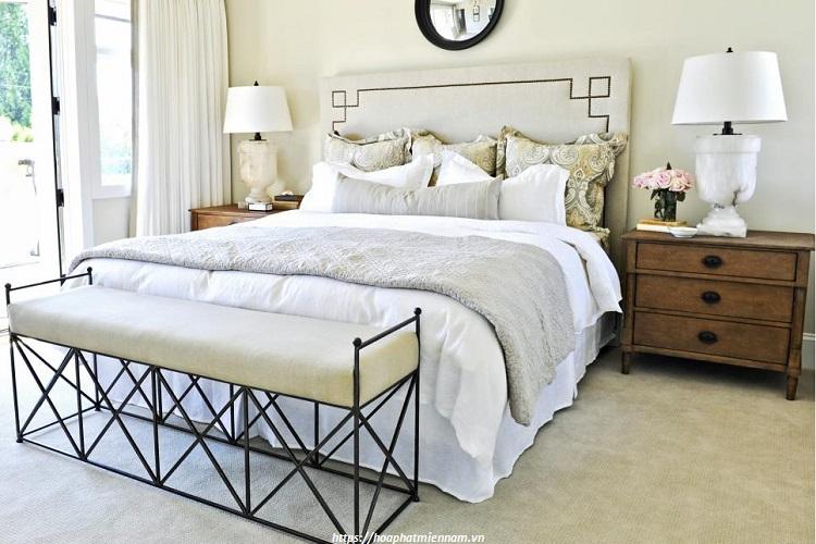 Phong cách phong ngủ nhỏ đơn giản nhưng đầy sang trọng