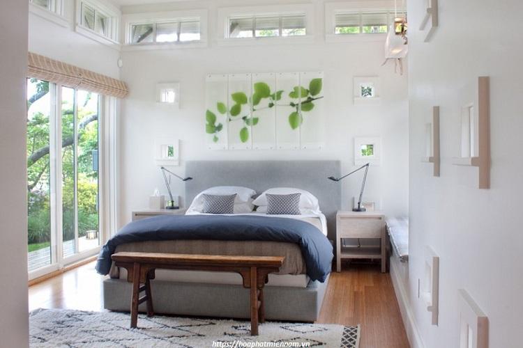 Sử dụng gam màu sáng kết hợp ánh sáng tự nhiên giúp căn phòng thêm thoáng đãng hơn