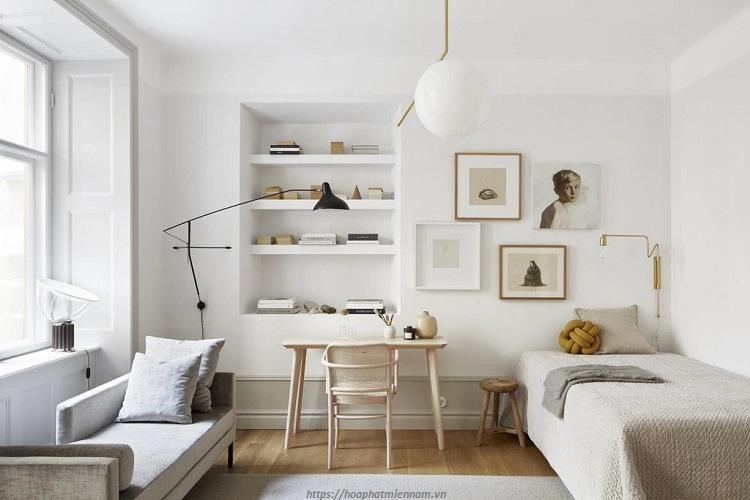 Sử dụng giường ngủ đơn để cải thiện không gian nội thất bên trong