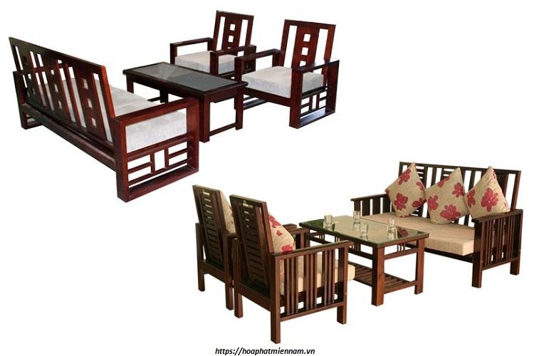 Bàn ghế tiếp khách bằng gỗ